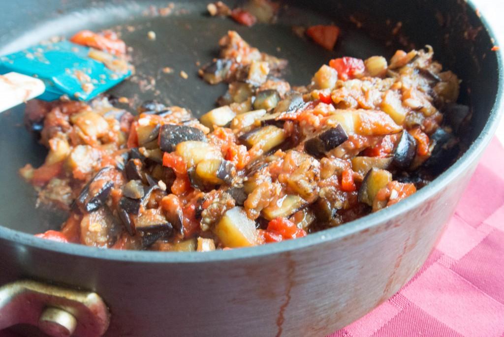Red Pepper-Eggplant Dip by My Utensil Crock