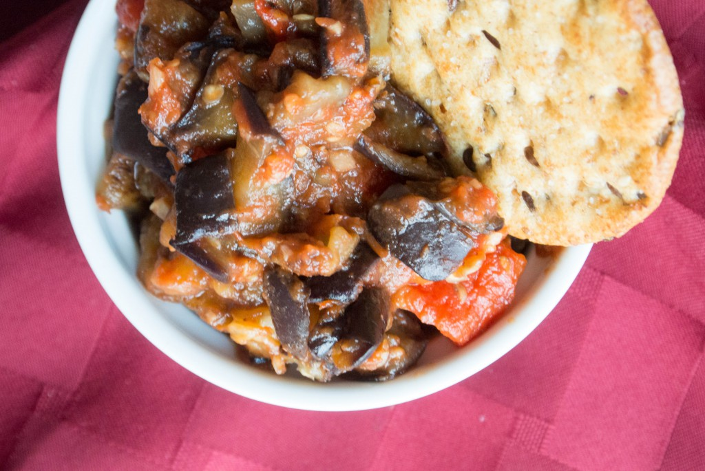 Red Pepper-Eggplant Dip by My Utensil Crock