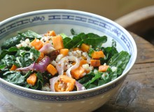 Warm Sweet Potato, Kale, and Quinoa Salad ~ by My Utensil Crock