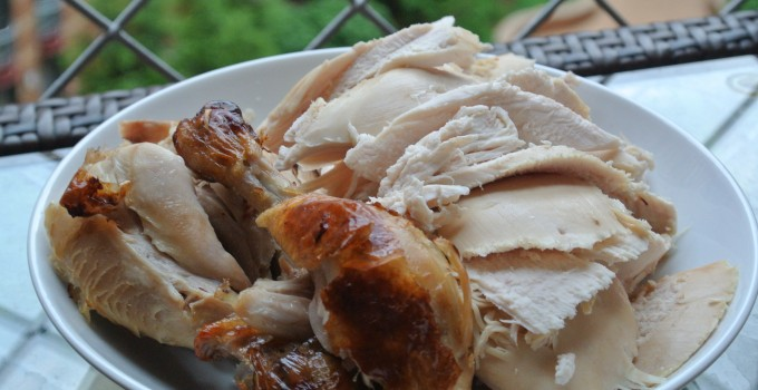 Roasted Chicken with Cider Glaze