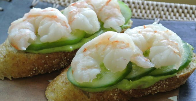 Shrimp and Cucumber Finger Sandwiches