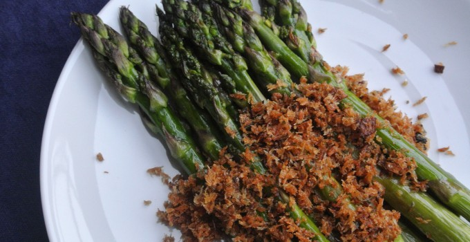 Roasted Asparagus with Panko-Anchovy Top...