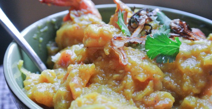 Pumpkin Curry with Shrimp