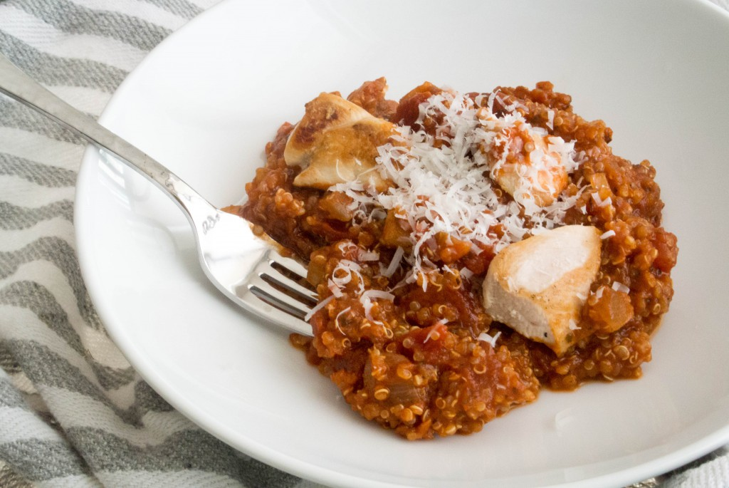 Marinara Quinoa with Chicken ~ by My Utensil Crock
