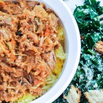 Beef and Onion Ragu with Spaghetti Squash