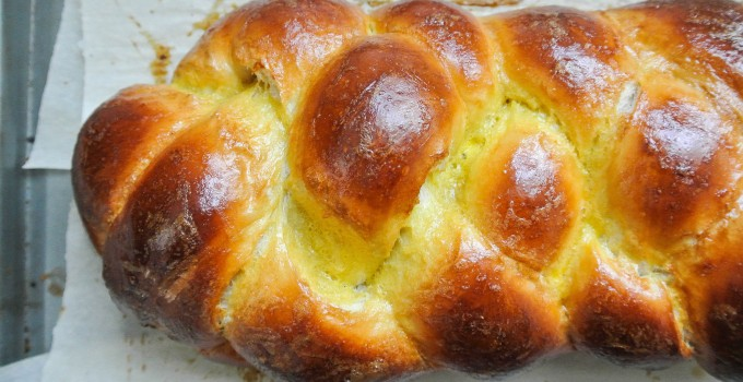 Challah {Four-Strand Braid}