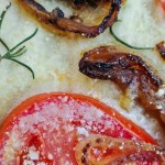 Focaccia with Rosemary, Tomato, and Caramelized Onions