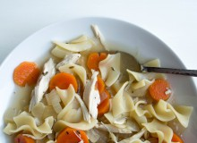Healthy Chicken Noodle Soup ~ by My Utensil Crock