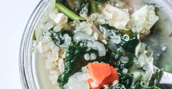 Chicken Soup with Kale and Quinoa {Healt...