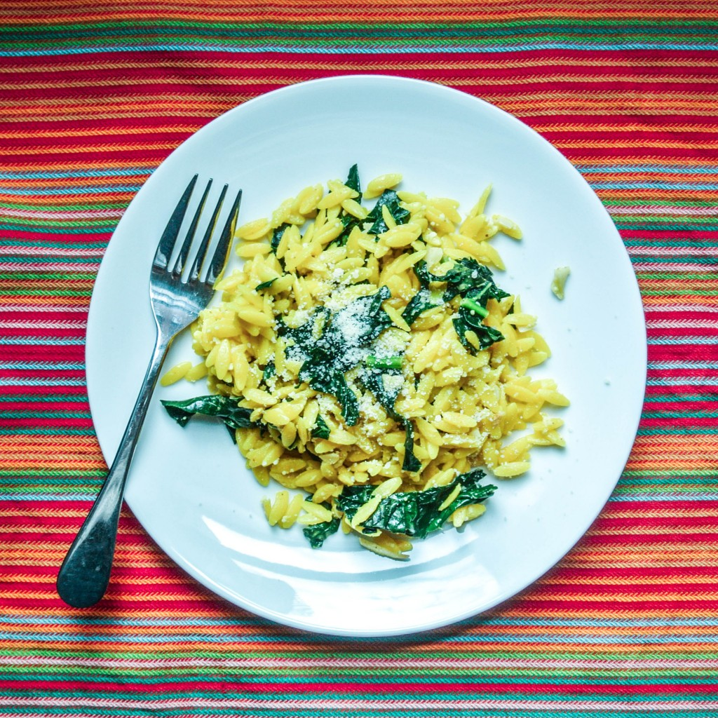 Lemon and Parmesan Orzo with Kale-5