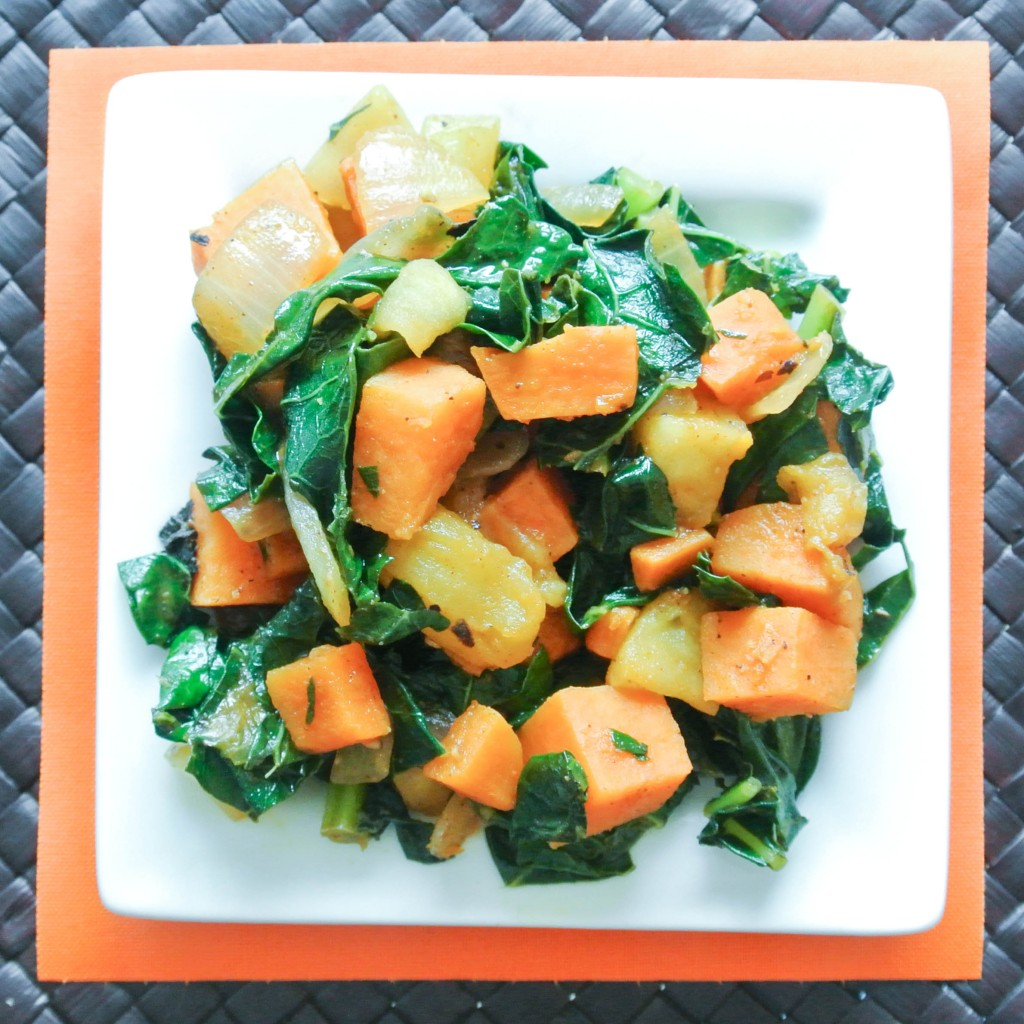 Sweet Potato Kale Apple Hash-6