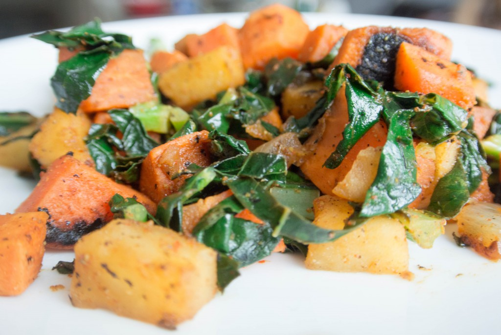 Sweet Potato, Kale, and Apple Hash by My Utensil Crock
