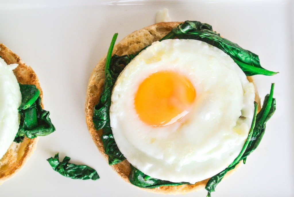 Eggs Florentine Spinach-2