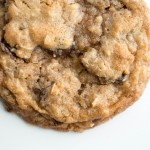 Chocolate Chip Oatmeal Cookies {Coconut Oil + Whole Wheat Flour}