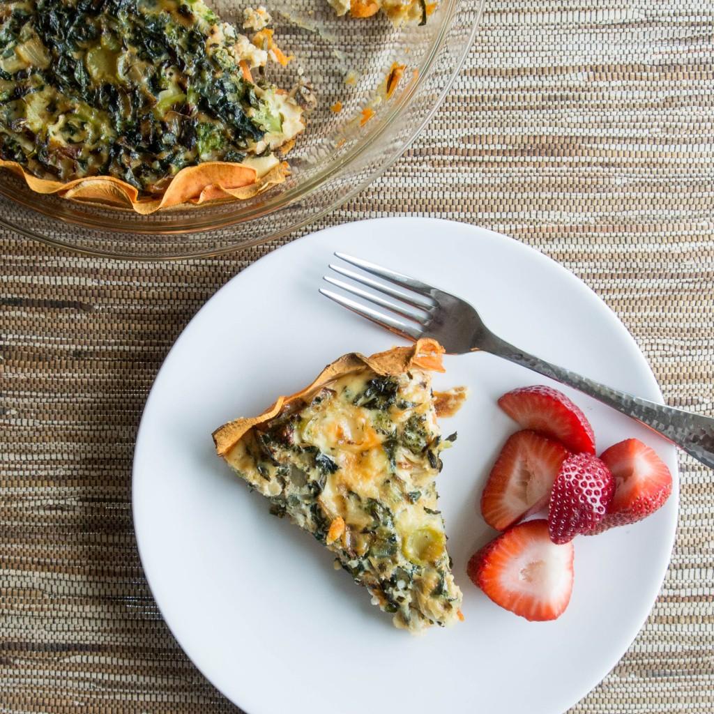 Kale and Sweet Potato Quiche-4