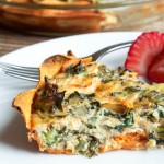 "Kale & Egg Quiche with Sweet Potato ""Crust"""