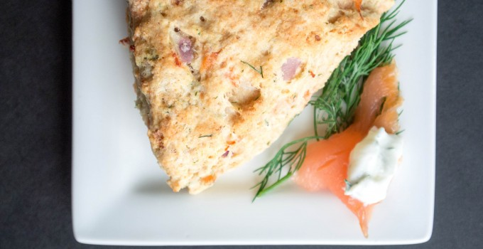 Lox, Red Onion, and Dill Savory Scones