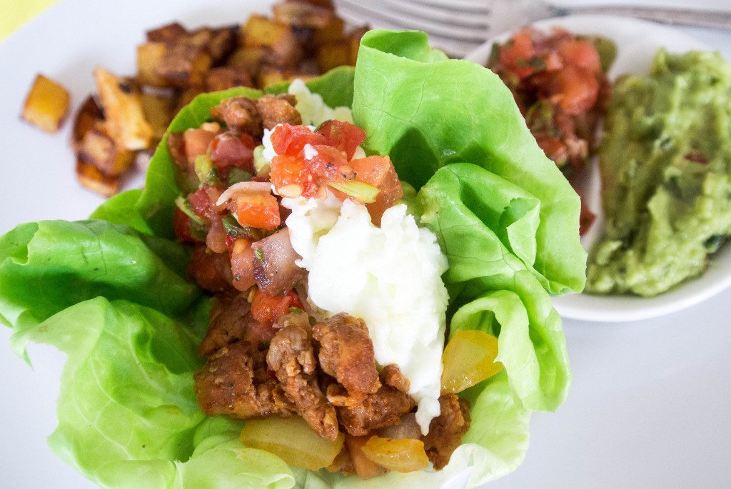 Chicken Chorizo Lettuce Cups-6