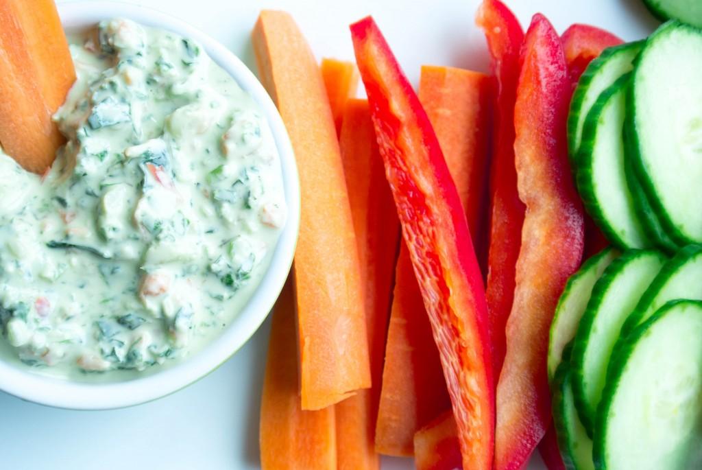 Kale and Spinach Yogurt Dip-3