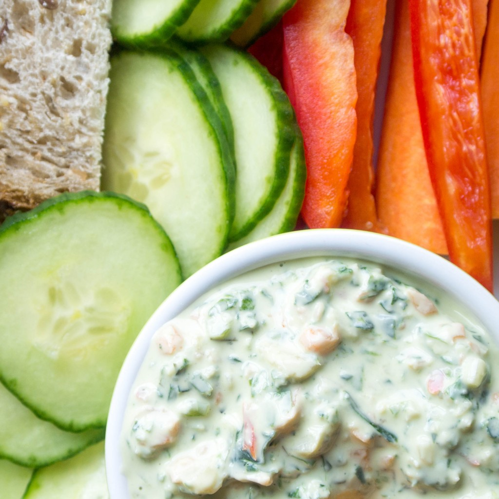 Kale and Spinach Yogurt Dip-4