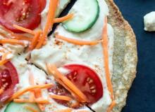 Quinoa Crust Hummus + Veggie Pizza-6