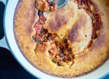 Turkey Chili Cornbread Casserole