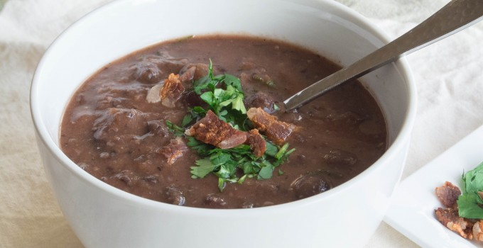 Black Bean + Bacon Soup