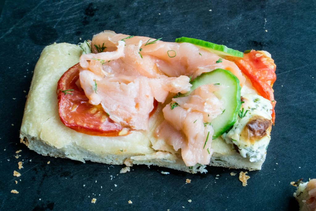 Salmon and Herbed Cream Cheese Focaccia_-18