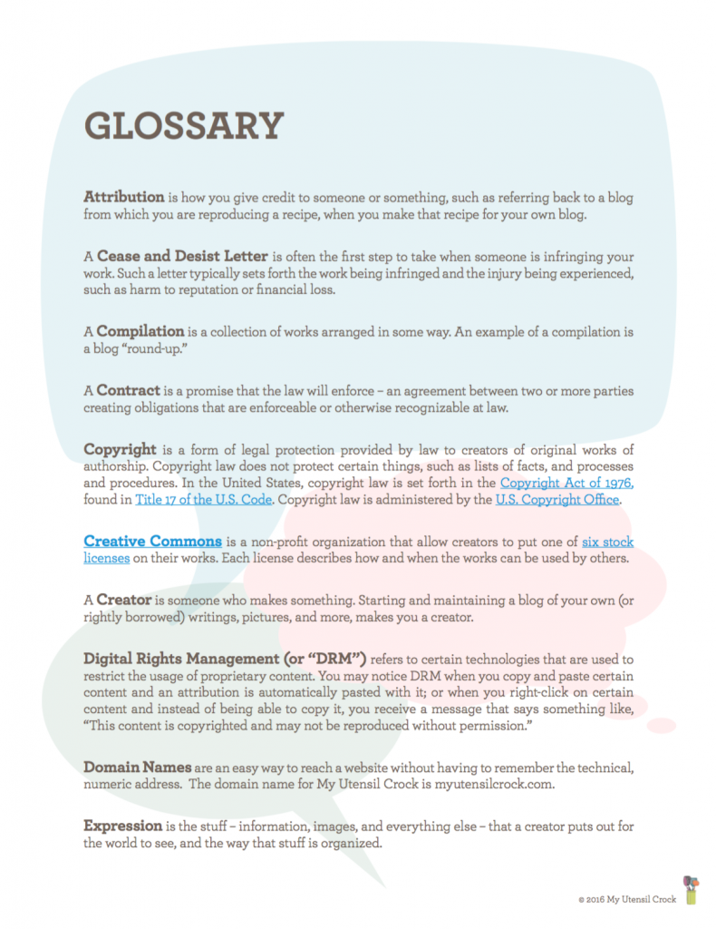 Glossary page 1 TLL