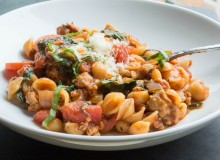 One-Pot Stovetop Lasagna Ragu with Sweet Italian Chicken Sausage