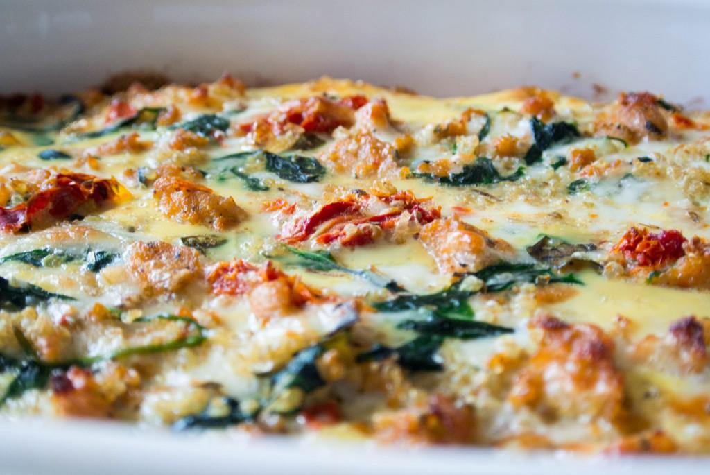 Italian Quinoa Breakfast Bake by My Utensil Crock
