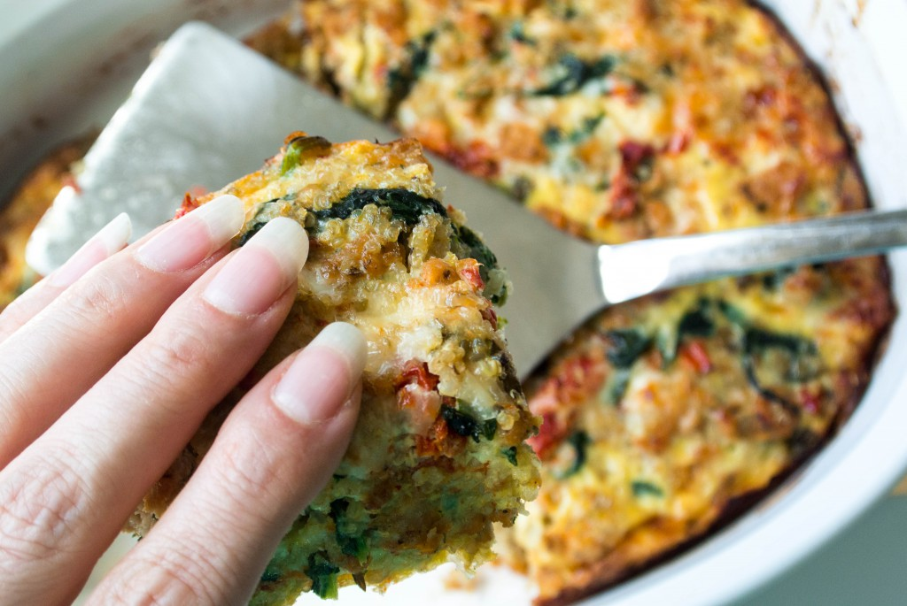 Italian Quinoa Breakfast Bake by My Utensil Crock