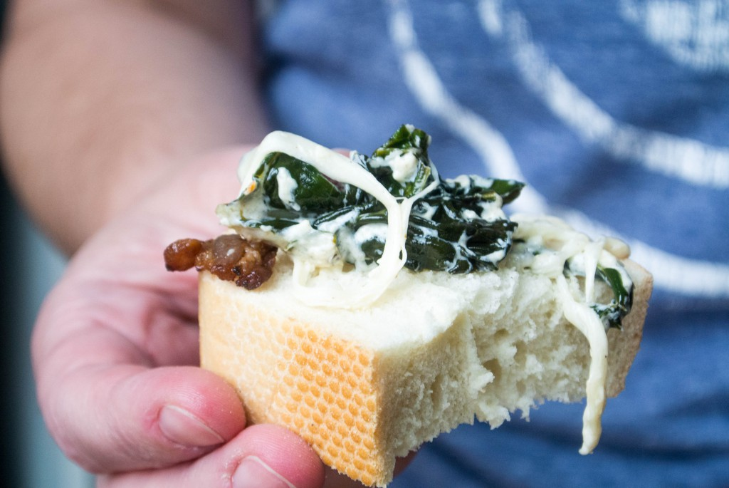 Kale and Bacon Cheesy Party Dip by My Utensil Crock