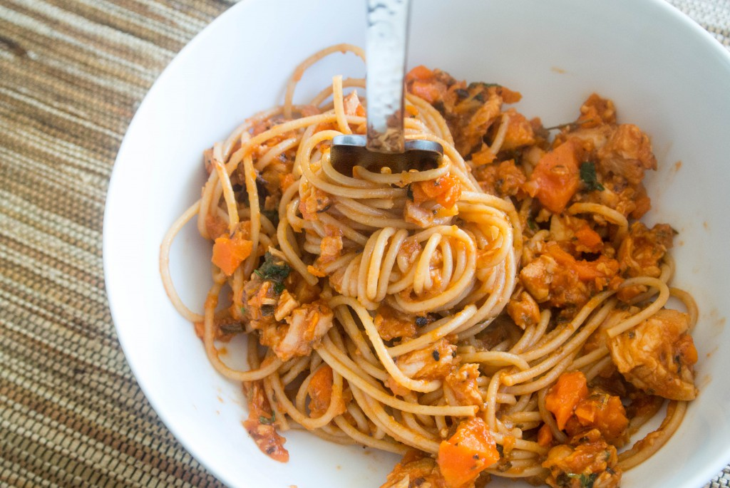 Take Two Turkey Ragu with Whole Wheat Spaghetti by My Utensil Crock