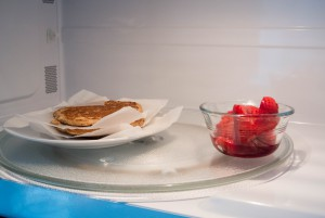 Freezer-friendly recipe: Oat flour pancakes with fresh roasted fruit syrup ~ by My Utensil Crock