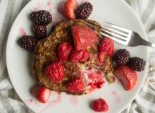 Oat flour pancakes with fresh roasted fruit syrup ~ by My Utensil Crock