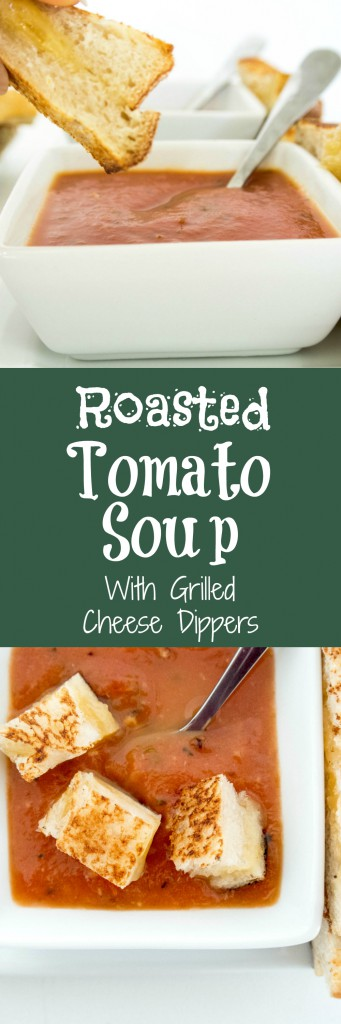 Easy Healthy Roasted Tomato Soup with Grilled Cheese Dippers by My Utensil Crock
