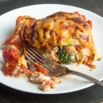 Italian Sausage Lasagna with Zucchini Noodles {Small-Batch}