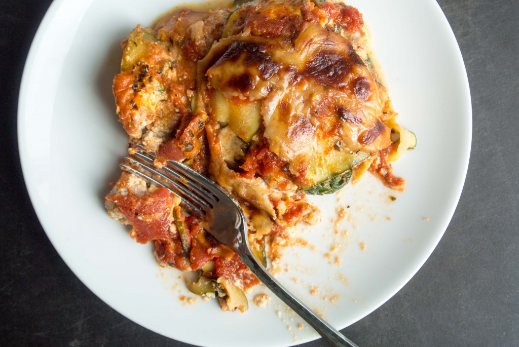 Turkey Italian Sausage Lasagna with Zucchini Noodles by My Utensil Crock