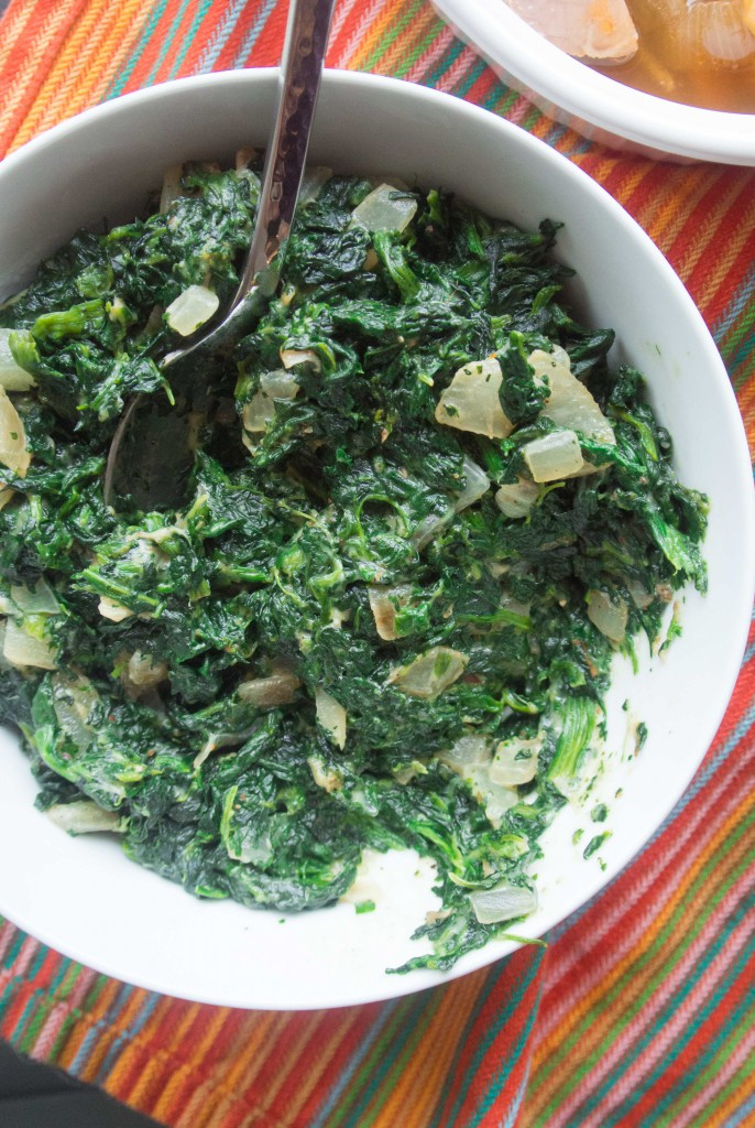 how to make creamed spinach from a can