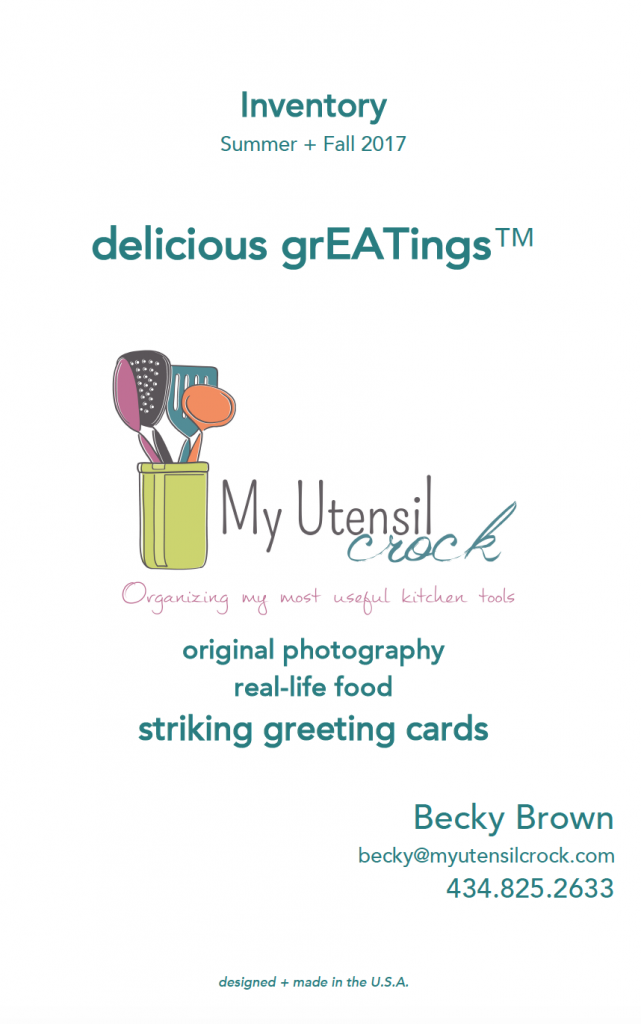 My Utensil Crock Delicious GrEATings Cards