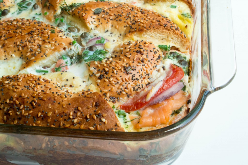 Lox + Bagel Brunch Bake ~ by My Utensil Crock