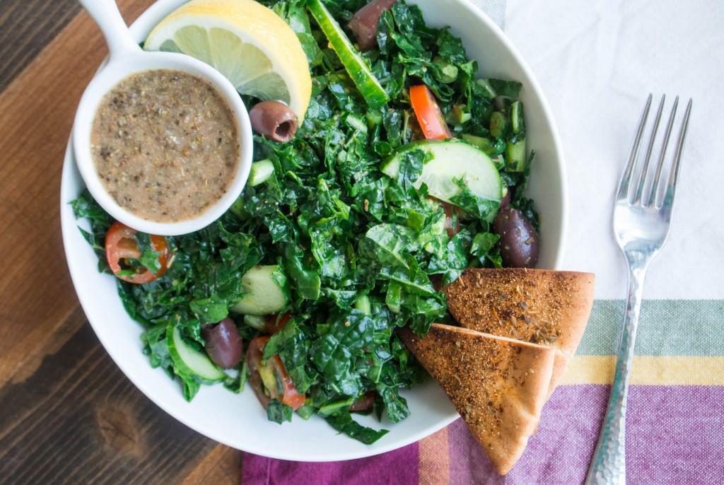 Kale Greek Salad ~ by My Utensil Crock