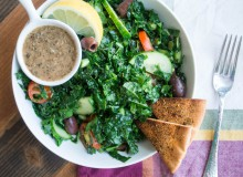Kale Greek Salad ~ by My Utensil Crock