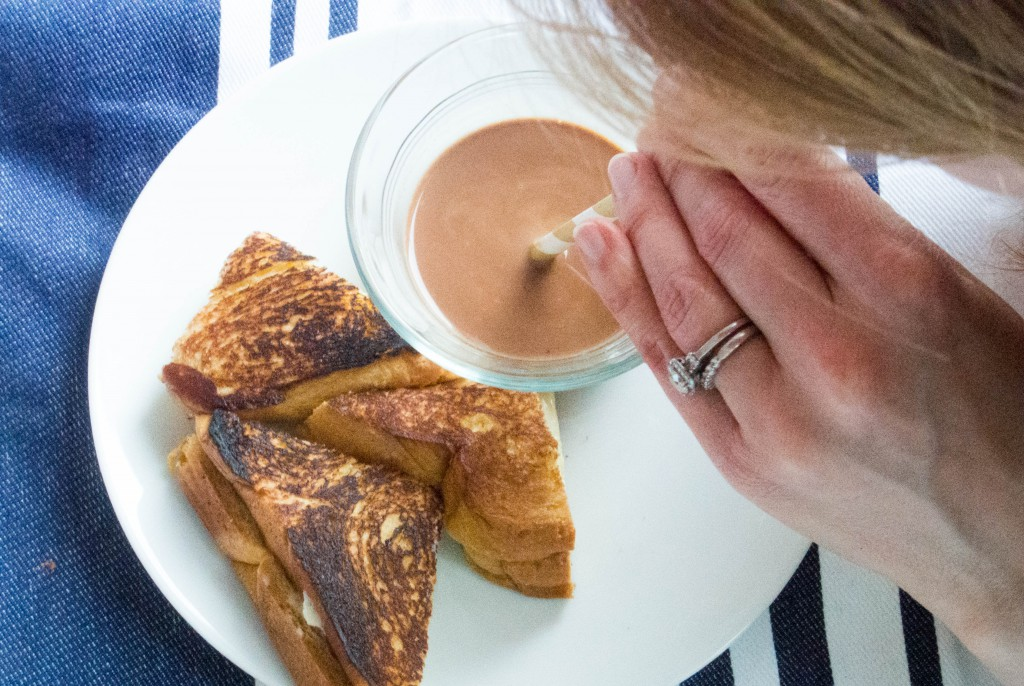 Marscapone Grilled Cheese Sandwiches with Chocolate Soup ~ by My Utensil Crock