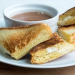 Mascarpone Grilled Cheese Sandwiches with Hot Chocolate Soup
