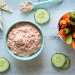 Roasted Red Pepper Dip {Greek Yogurt}