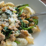 Gnocchi with Spinach and Chicken Italian Sausage