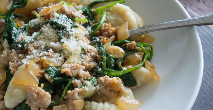 Gnocchi with Spinach and Chicken Italian...