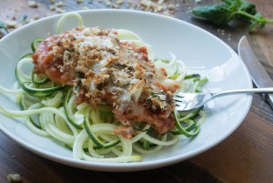 Healthier Chicken Parmesan ~ by My Utensil Crock